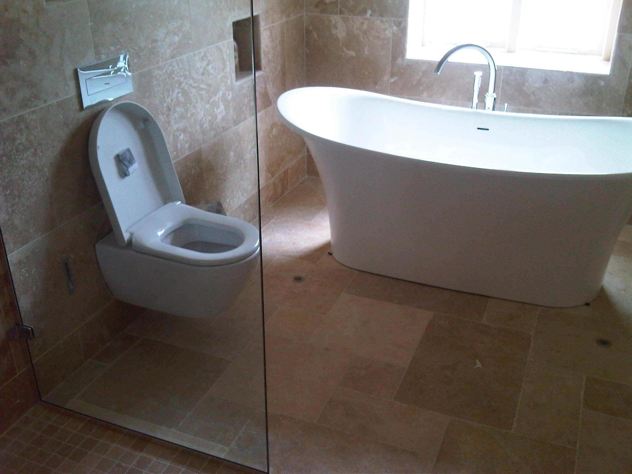 index of bingallerybathrooms - free standing bath and wall hung toilet