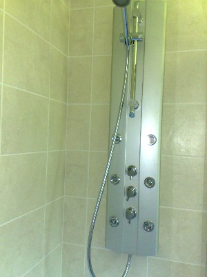 Shower tower with body jets fitted in rastrick for Shower tower with body jets