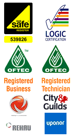 Registered with Gas Safe (539826) & OFTEC, C&G and Logic qualified